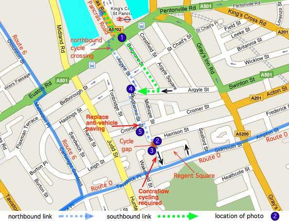 Missing link map