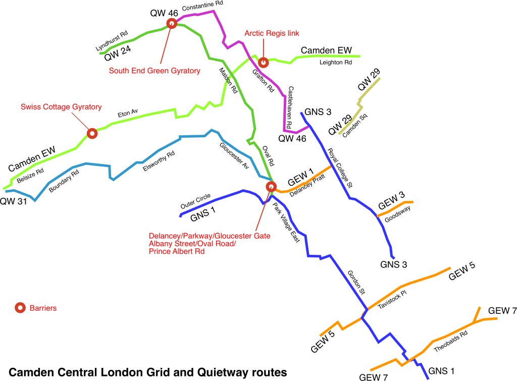 Grid and Quietway Routes