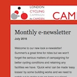 Camden Cyclists News and Events, July 2016